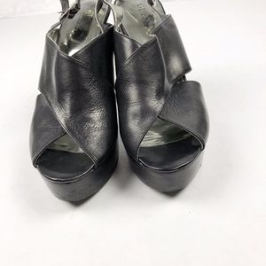 Guess Black Leather GWPARADISA Heels in Size 8